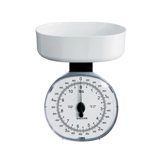 Salter White Mechanical Kitchen Scale