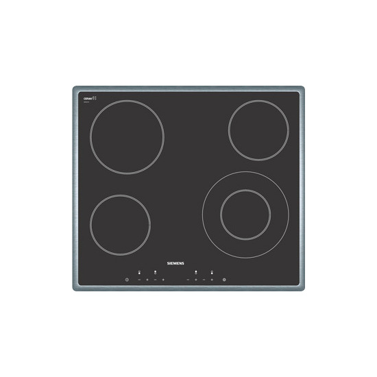 Ceramic Hob 60cm Electric with Touch Control 4 Zone in Stainless Steel trim