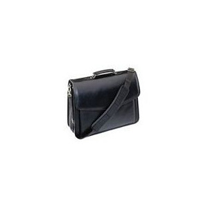 Photo of Notebook Attache Case Black Leather Laptop Bag