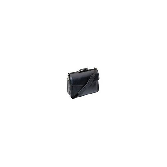 Notebook Attache Case Black Leather