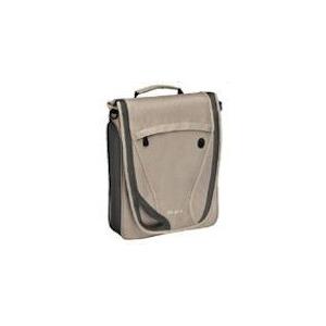 Photo of Free.Spirit Vertical Messenger Notebook Case Beige/ Green Nylon Laptop Bag