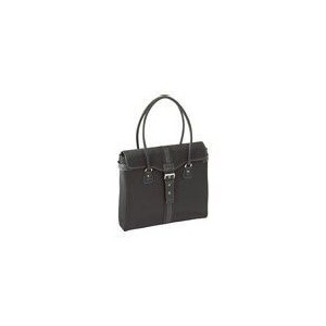 Photo of Getta Tote Notebook Carrying Case Black With Tan Interior Handbag