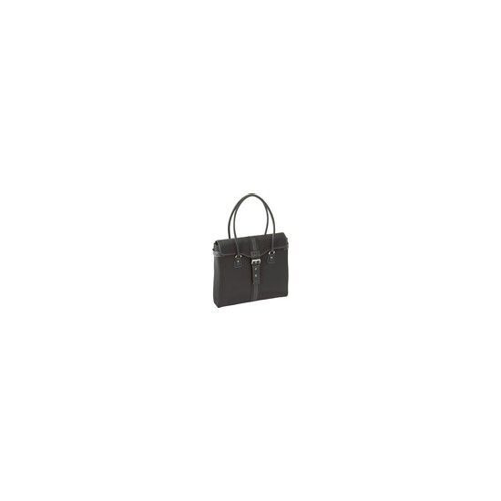 Getta Tote Notebook Carrying Case Black With Tan Interior