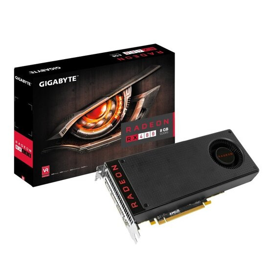 Gigabyte RX 480 8GB GDDR5 HDMI 3 x DisplayPort PCI-E Graphics Card