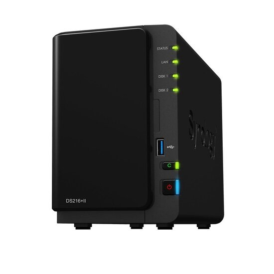 Synology DS216+II 16TB (2 x 8TB WD RED) 2 Bay Desktop NAS