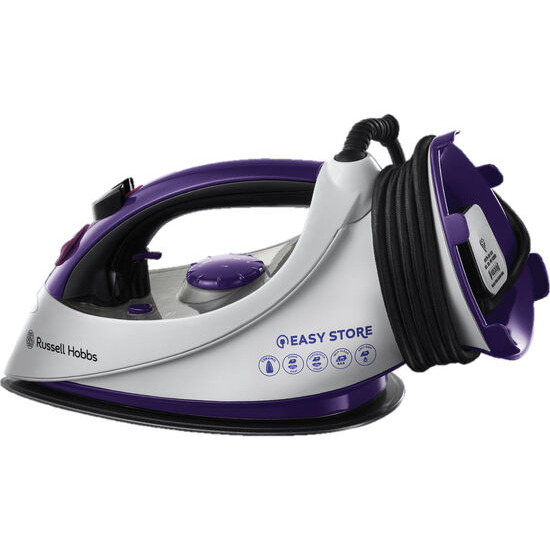 Easy Plug & Wind 18617 Steam Iron - White & Purple