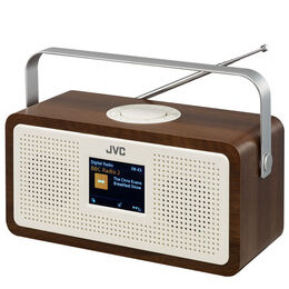 JVC RA-DS77 Portable DAB+/FM Clock Radio - Wood & Cream Reviews