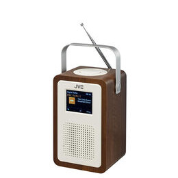 JVC RA-D57 Portable DAB+ Clock Radio - Wood & Cream Reviews