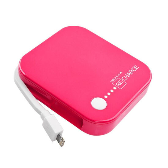 Recharge 4000 Portable Power Bank - Pink