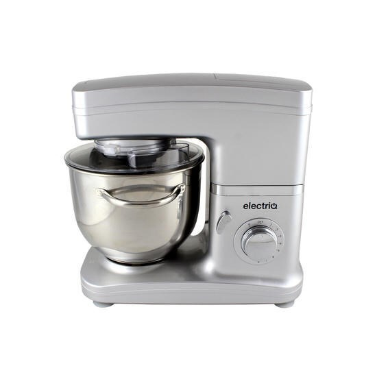 ElectriQ 5.2 litre Electric Food Stand Mixer 1500w Silver with Attachments