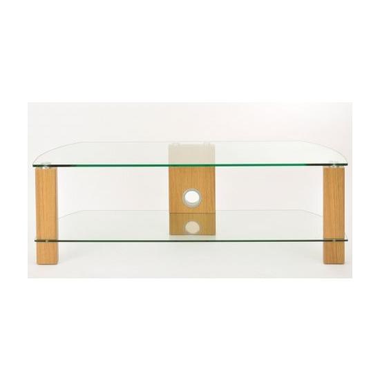 TNW Vision Oak 1200 2 Shelf TV Stand