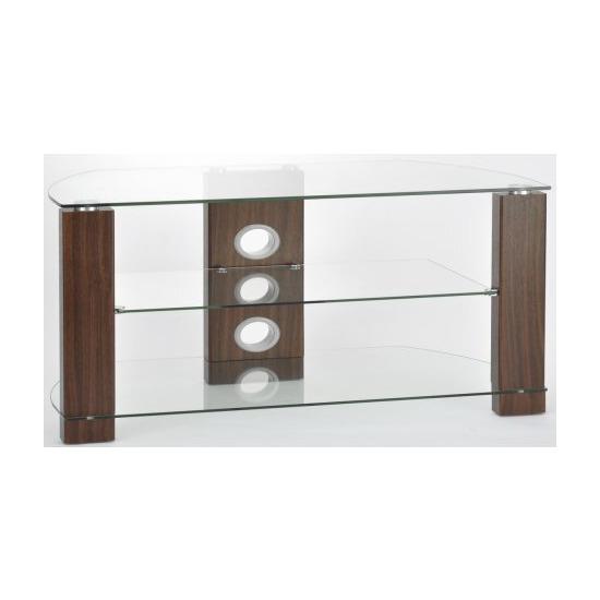 TNW Vision Walnut 1200 3 Shelf TV Stand