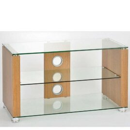 TNW Elegance 800 Oak and Clear Glass TV Stand Reviews
