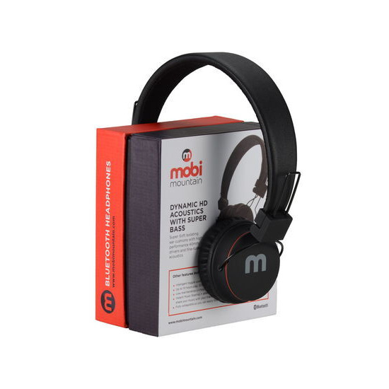 Mobi MS02 Wireless Headphones with Built in FM Radio & Micro SD/TF Card Player