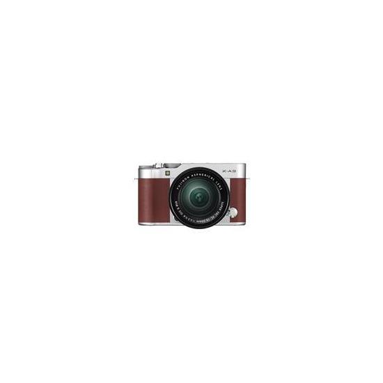 Fujifilm X-A3 Mirrorless Camera In Brown + XC16-50mm Lens