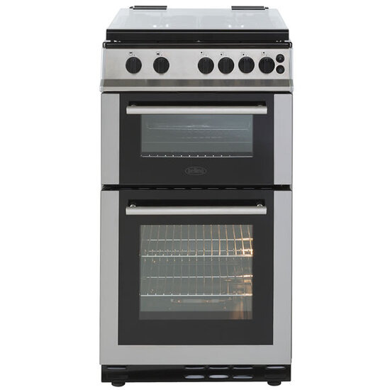 Belling FS50GTCLSS 500mm Twin Cavity Gas Cooker 4 x Burner Gas Hob S/S