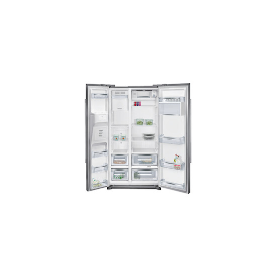 Siemens KA90DVI20G Stainless steel American Fridge freezer