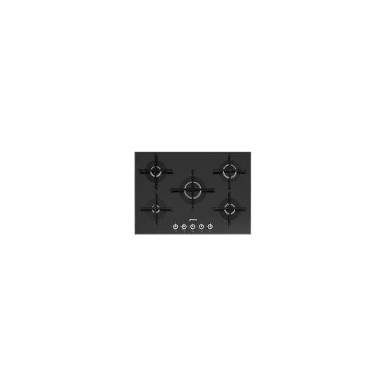 SMEG PV175N-1 Linea 75cm Wide 5 Burner Gas-on-glass Hob - Black