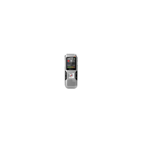 Philips DVT4010 8GB Digital VoiceTracer Audio Recorder - Silver Shadow/Chrome