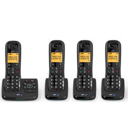 BT XD56 Cordless Phone with Answering Machine - Quad Handsets Reviews