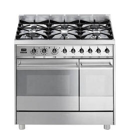 SMEG C92GPX8 90 cm Dual Fuel Range Cooker Stainless Steel Reviews