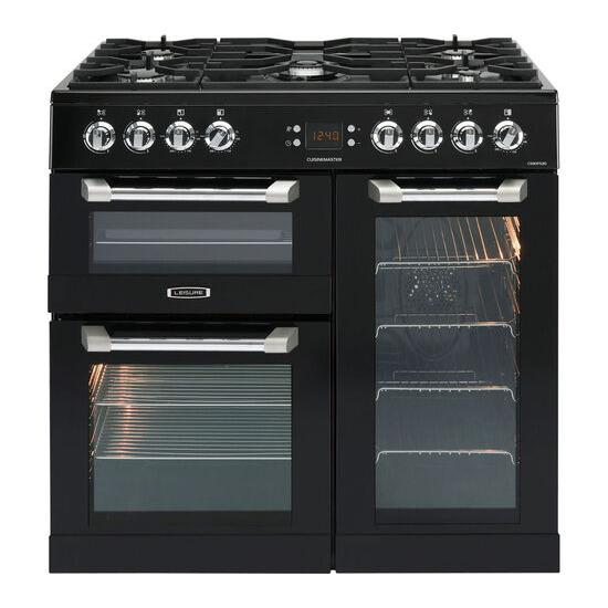 Cuisinemaster CS90F530K Dual Fuel Range Cooker Chrome
