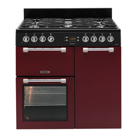 Cookmaster 90 Dual Fuel Range Cooker Red