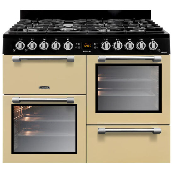Cookmaster CK100G232C 100 cm Dual Fuel Range Cooker Cream Chrome