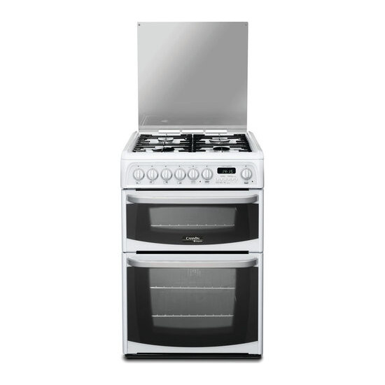 Hotpoint Cannon CH60DHWFS Dual Fuel Cooker - White