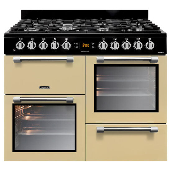 Cookmaster CK100F232C Dual Fuel Range Cooker Cream