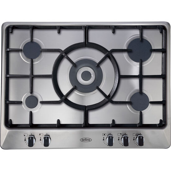 New World GHU70GC Gas Hob - Stainless Steel