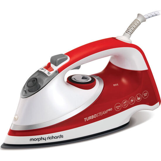 Turbosteam Pro 303116 Steam Iron - Red & White