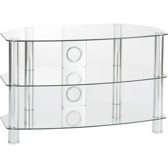 Vantage 800 TV Stand - Chrome