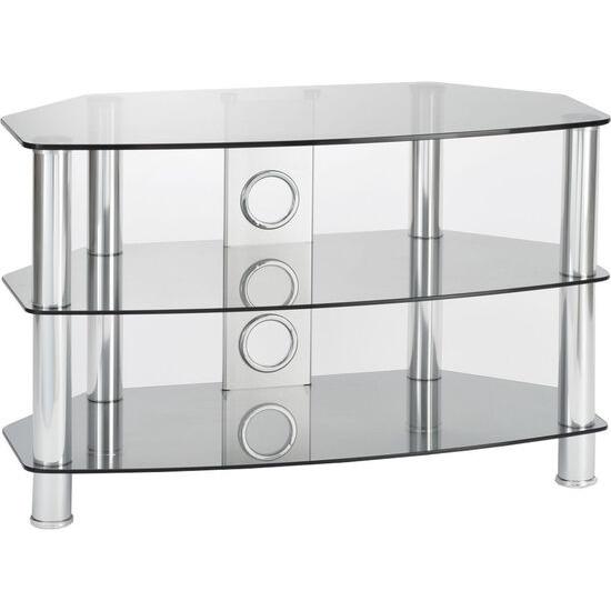 Vantage 1200 TV Stand - Chrome & Grey