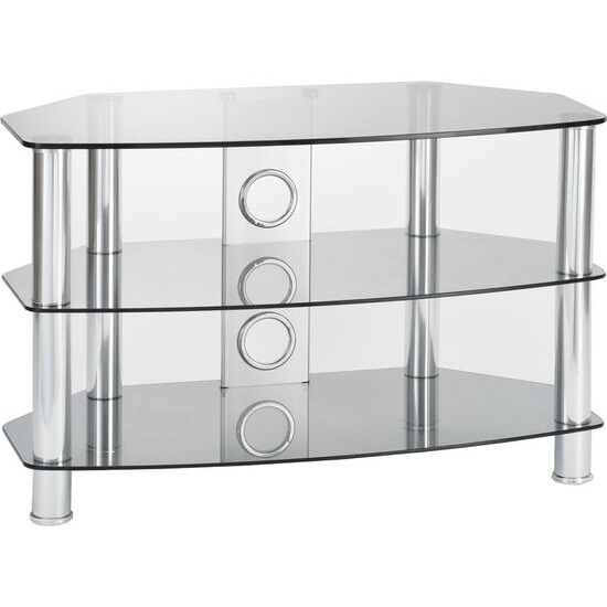 Vantage 1200 TV Stand - Chrome & Grey