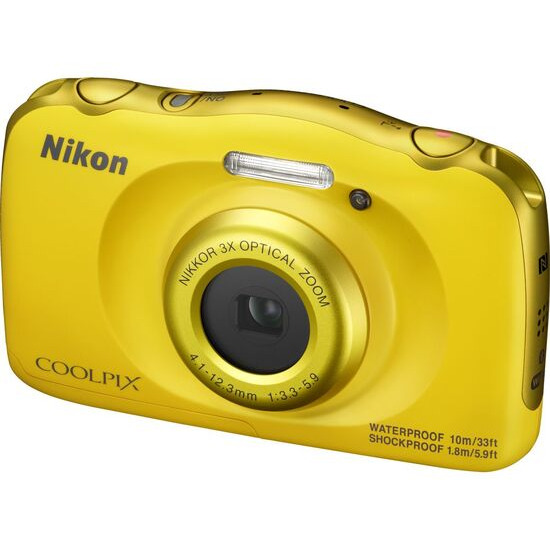 Nikon Coolpix W100 Tough Compact Camera - Yellow