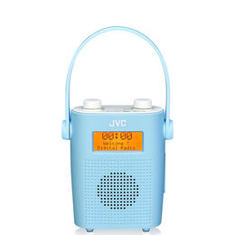 JVC RA-D11-A Portable DAB/FM Bathroom Clock Radio - Blue Reviews