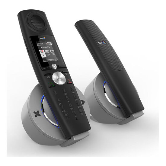 Halo Bluetooth Cordless Phone with Answering Machine - Twin Handsets