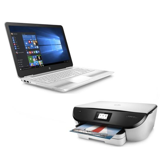 HP Pavilion 15-au077sa 15.6 Laptop & ENVY 5546 Printer Bundle