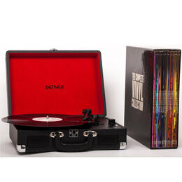 The Complete Vinyl Collection Portable USB Turntable with 20 Vinyl Records - Black Reviews