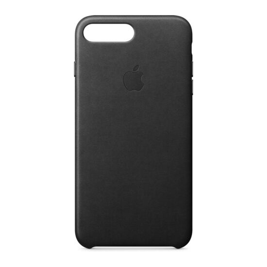 Leather iPhone 7 Plus Case - Black