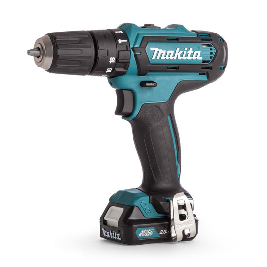 Makita HP331DWAX1 Combi Drill 10.8V (2 x 2.0Ah Batteries) with 74 Accessories