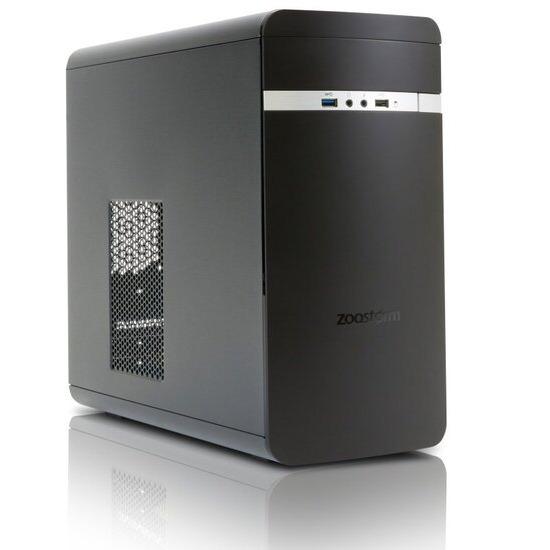 Zoostorm Evolve Desktop PC Intel Celeron N3050 1.6GHz 8GB RAM 1TB HDD DVDRW Intel HD WIFI Windows 10 Home