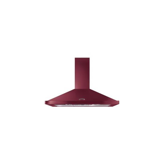 Rangemaster LEIHDC110CY/C Chimney Cooker Hood - Cranberry & Chrome