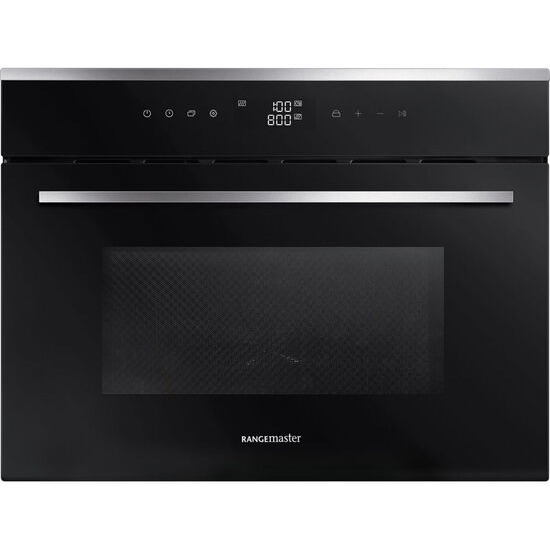 RANGEMASTER RMB45MCBL/SS Built-in Combination Microwave - Black & Stainless Steel