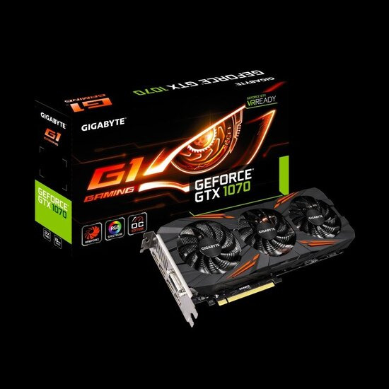 Gigabyte Nvidia GTX 1070 G1 Graphics Card GV-N1070G1 GAMING-8GD