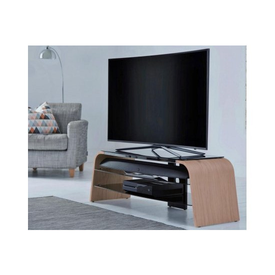 Alphason Spectrum ADSP1200-LO Light Oak TV Stand for up to 50  TVs