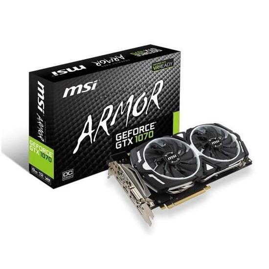 MSI Nvidia Geforce GTX 1070 Armor