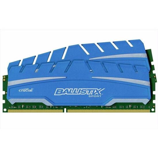 Crucial Ballistix Sport XT 8GB Kit DDR3 1600 MT/s Memory Kit BLS2C4G3D169DS3J