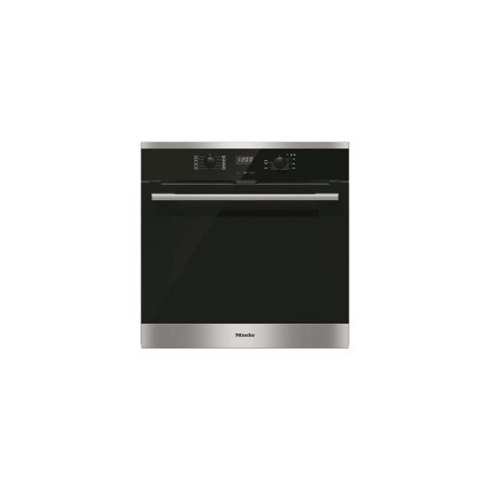 Miele H2566BPCLST Campaign EasyControl 7 Function CleanSteel Electric Built Single Oven With Pyrolytic Cleaning And FlexiClip Rails